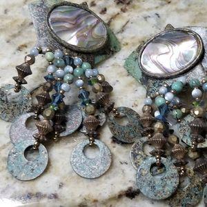 Abelone stone earrings
